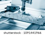 cnc milling machine working ... | Shutterstock . vector #1091441966