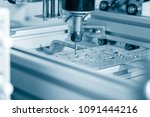 cnc milling machine working ... | Shutterstock . vector #1091444216