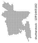 pixel bangladesh map. vector... | Shutterstock .eps vector #1091445182