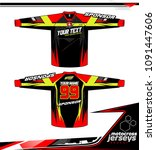 long sleeve motocross jerseys t ... | Shutterstock .eps vector #1091447606