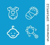 baby related set of 4 icons... | Shutterstock .eps vector #1091449112