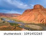 aerial view of colorado river... | Shutterstock . vector #1091452265