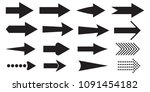 black arrow icons set.... | Shutterstock .eps vector #1091454182