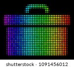 dot colorful halftone toolbox... | Shutterstock .eps vector #1091456012