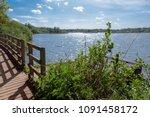 fleet pond nature reserve in... | Shutterstock . vector #1091458172