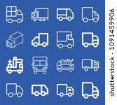 lorry related set of 16 icons...   Shutterstock .eps vector #1091459906