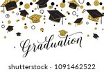 graduation word with graduate... | Shutterstock .eps vector #1091462522