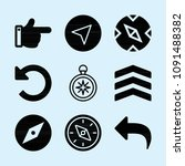 filled set of 9 direction icons ...   Shutterstock .eps vector #1091488382