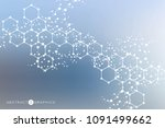 structure molecule and... | Shutterstock .eps vector #1091499662
