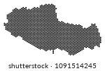 hexagonal tibet chinese... | Shutterstock .eps vector #1091514245