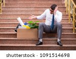 young businessman on the street ... | Shutterstock . vector #1091514698