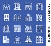 set of 16 apartments outline... | Shutterstock .eps vector #1091520356