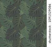 vector tropical seamless... | Shutterstock .eps vector #1091529086