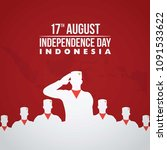 indonesia independence day... | Shutterstock .eps vector #1091533622