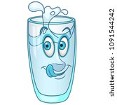 glass of water. pure healthy... | Shutterstock .eps vector #1091544242