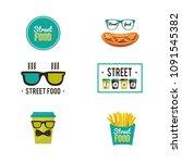 set of vector logos. fast food... | Shutterstock .eps vector #1091545382
