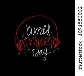 world music day   Shutterstock .eps vector #1091553032