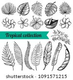 vector collection with hand... | Shutterstock .eps vector #1091571215
