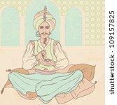 fairy tale sultan  arab men in...   Shutterstock .eps vector #109157825