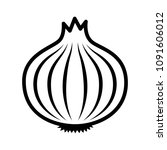 bulb onion or common onion... | Shutterstock .eps vector #1091606012