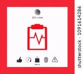 electrocardiogram icon symbol   Shutterstock .eps vector #1091614286