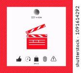 clapperboard icon symbol | Shutterstock .eps vector #1091614292