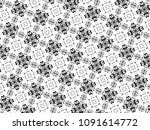 ornament with elements of black ... | Shutterstock . vector #1091614772