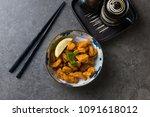 tori karaage japanese deep... | Shutterstock . vector #1091618012