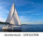 sail boat on lough derg ... | Shutterstock . vector #109161908