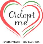 adopt me the inscription about... | Shutterstock .eps vector #1091620436