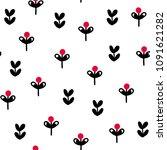 seamless creative pattern.... | Shutterstock .eps vector #1091621282