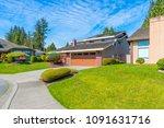 big custom made luxury house... | Shutterstock . vector #1091631716