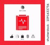 electrocardiogram symbol icon   Shutterstock .eps vector #1091633756