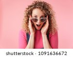 close up portrait of cheerful...   Shutterstock . vector #1091636672