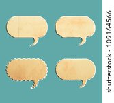 vintage bubble talk tag old... | Shutterstock . vector #109164566