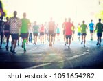 colorful silhouettes of people... | Shutterstock . vector #1091654282