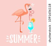 vector cartoon style summer... | Shutterstock .eps vector #1091656118