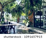 green coffee cafe | Shutterstock . vector #1091657915