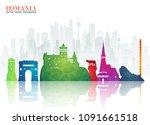 romania landmark global travel...   Shutterstock .eps vector #1091661518
