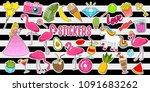 set of girls fashion cute...   Shutterstock .eps vector #1091683262