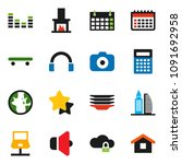 solid vector icon set   plates...