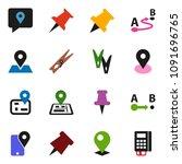 solid vector icon set  ... | Shutterstock .eps vector #1091696765