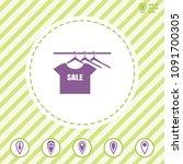 clothes vector icon on a ...   Shutterstock .eps vector #1091700305