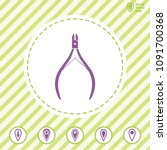 manicure nipper vector icon....   Shutterstock .eps vector #1091700368