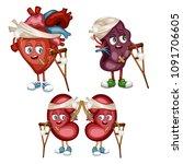 cartoon illustration of sad... | Shutterstock .eps vector #1091706605