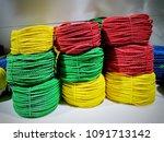 multi color of nylon or plastic ... | Shutterstock . vector #1091713142