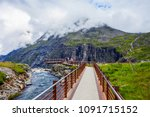 trollstigen viewing or... | Shutterstock . vector #1091715152