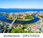 trondheim city aerial panoramic ...   Shutterstock . vector #1091715212