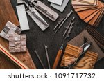 house design ideas concept with ... | Shutterstock . vector #1091717732
