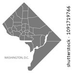 washington dc city map with... | Shutterstock .eps vector #1091719766